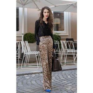 🎯25$🎯Zara Leopard wise leg🌱satin pants